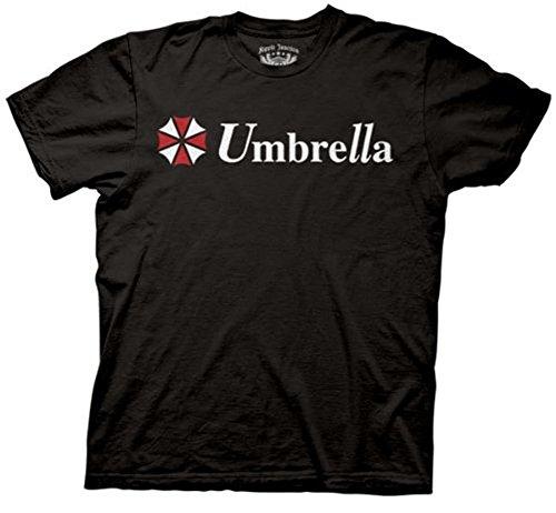 Resident Evil Umbrella Corporation Classic Logo Black Adult T-shirt Tee