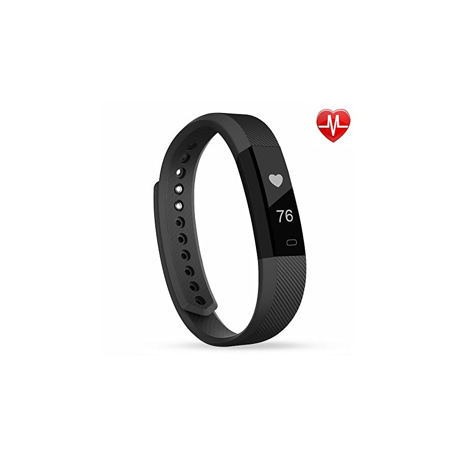 Semaco Fitness Tracker Heart Rate Monitor Silm HR Waterproof Activity Health Tracker Smart Wristband Band with Pedometer Sleep Monitor Step Calorie Counter Sport Bracelet