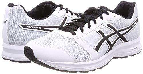 Pour 9 Patriot Homme De 0190 Course Noir Blanc Asics blanc Chaussures EtXqgwx