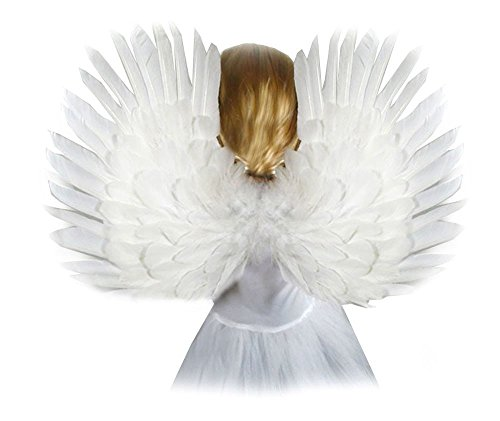 [SACASUSA(TM) Small White Feather Angel Wings for kids children] (Maleficent Toddler Costumes)