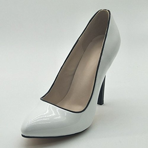 Fashion 45 Toe Pumps Cm Fabrics Leather Sandals 9 Heeled 5 High Novelty White Prom 11 Pointed Shoes Size 34 VIVIOO Shoes wtqTBT