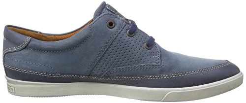 Ecco Hombres Collin Náutica Moda Perforada Sneaker Marine / Denim Blue