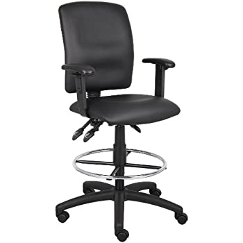 Boss Office Products Height Adjustable Drafting Stool With