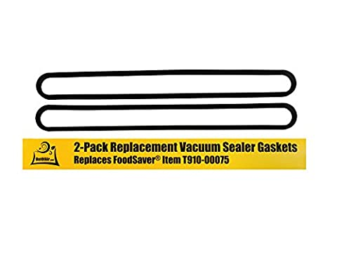 FoodSaver Upper and Lower Gasket Assembly Replacements (2 Foam Gaskets) - Fits V2200, V2400, V2800, V3000, V3200, V3400, V3800 Series Vacuum Sealers (Replaces Food Saver T910-00075) by - Series Gasket