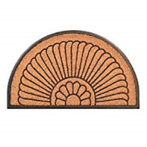 No Trax Designs C04S2439CR Crescent Cocoa Door Mat, 24