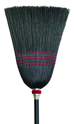 O'Cedar Commercial 6110-6 Janitor Black Corn Broom (Pack of 6)