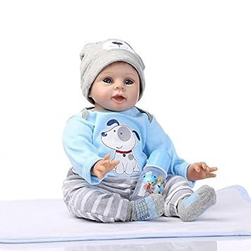 Amazon.es: ZIYIUI 22 Pulgadas 55cm Reborn Bebé Muñecos bebé y ...