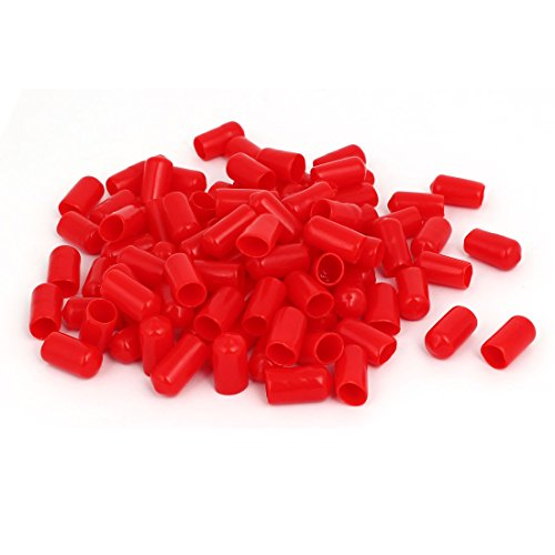 uxcell-95mm-inner-dia-rubber-insulated-end-cap-screw-thread-protector-cover-red-100pcs