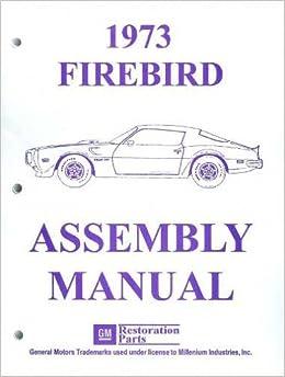 1973 Pontiac Firebird Formula Esprit Trans-Am Owner/'s Manual