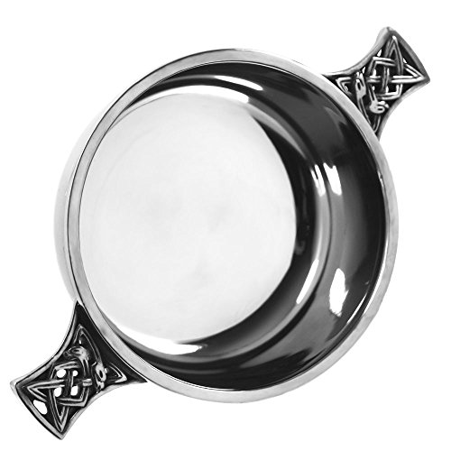 English Pewter Company Celtic Pewter Scottish Quaich Bowl Loving Cup Medium ()