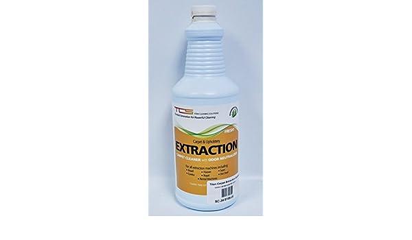 Titan alfombra extracción limpiador de alfombras con neutralizador de olores: Amazon.es: Hogar