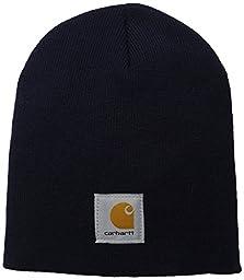 Carhartt Men\'s Acrylic Knit Hat A205, Navy, One Size