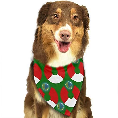 ZZJIAK Dog Bandana Scarf Peru Flag Eat The Earth Triangle Bibs Printing Kerchief Set Accessories Dogs Cats -