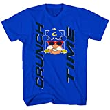 Captain Crunch Mens Cap'n Crunch Cereal Shirt Crunch Time Tee Shirt - Cap'n Crunch Graphic T-Shirt (Royal, X-Large)