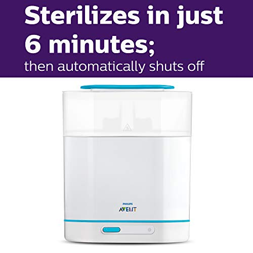 41hTi2HEalL - Philips Avent 3-in-1 Electric Steam Sterilizer For Baby Bottles, Pacifiers, Cups And More