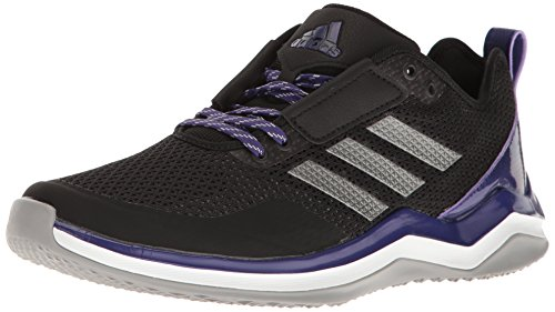 adidas Men's Freak X Carbon Mid Cross Trainer, Black/Iron/Collegiate Purple, 7 Medium US