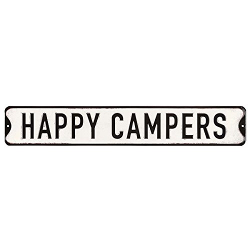 Sign Embossed Street - Open Road Brands Happy Campers Embossed Street Sign