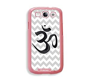 Shawnex Grey Chevron Ohm Yoga ThinShell Protective Pink Plastic - Galaxy S3 Case - Galaxy S III Case i9300
