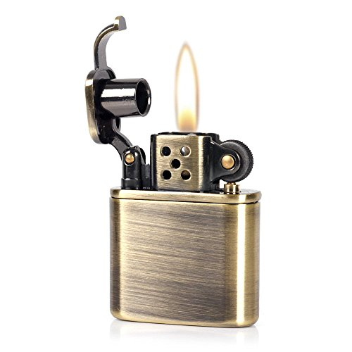 Pure Copper Antique Style Lift Arm Oil Petrol Metal Cigarette Lighter (Bronzy) - Metal Lift
