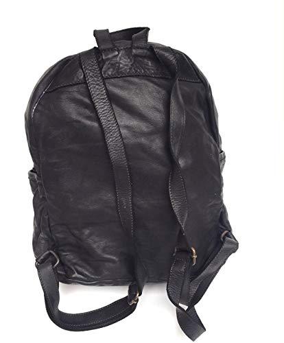 Nero Intrecciata Vintage Italy Vera Gioiosa Pelle Modello In Superflybags Borsa Made Zaino PYwqOp4