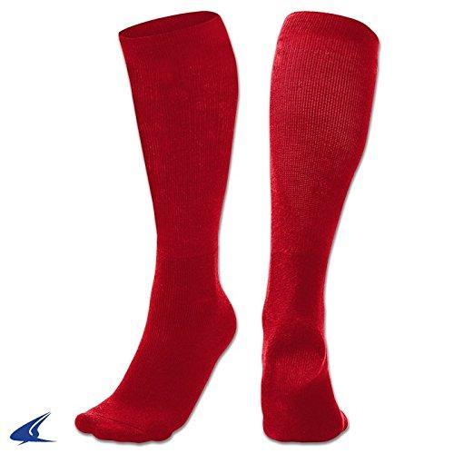 Champro Baseball Soccer Football multi-sportチューブソックス、ポリエステル100、ダースPK B07532YRJD Large レッド(Scarlet Red) レッド(Scarlet Red) Large