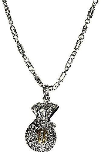 Amulet borsa con catena in argento