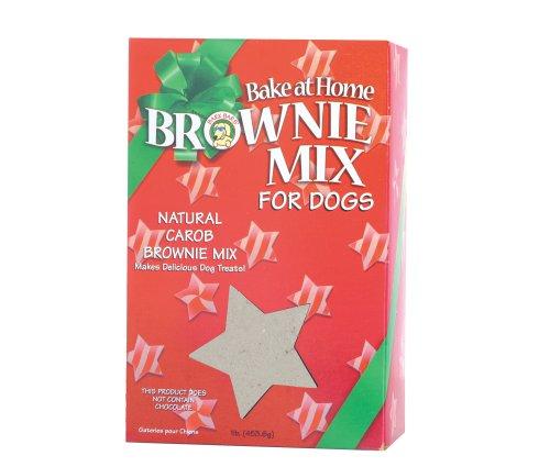 Bark Bars Bake At Home Brownie Mix Christmas Box Carob Pet Treat, 16-Ounce ()