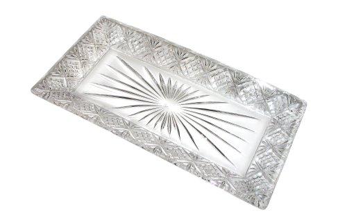 Godinger Dublin Rectangular Crystal Tray, 12 Inch x 6.5 Inch (Godinger Serving Platter)