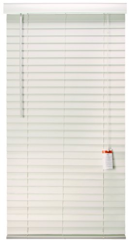 Designer's Touch 883610 Faux Wood 2-Inch Plantation Style Miniblind, 29 by 60-Inch, White Finish by Designer's Touch