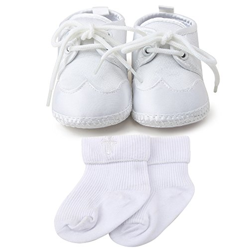 Pictures of OOSAKU Boys White Lace Up Christening Baptism 6