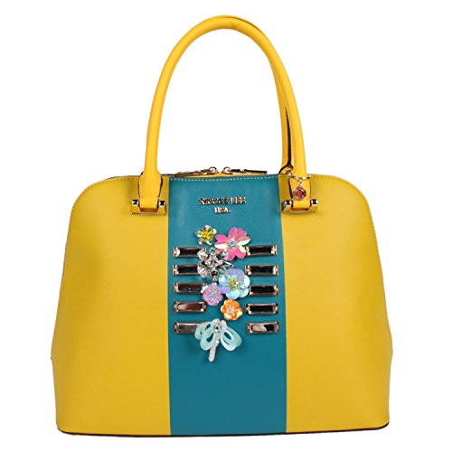 Nicole Lee Brielle Colorblock Dome Bag (yellow) P11010-ye