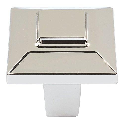 Atlas Homewares Trocadero Square Knob Finish: Polished Nickel, Size: 1