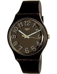 Swatch Men's Secret Numbers SUOB133 Black Rubber Swiss Quartz Watch