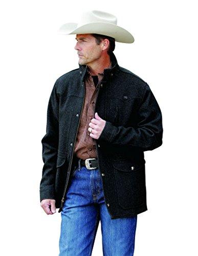 Miller Ranch Men's Charcoal Melton Wool Riding Coat Charcoal Grey X-Large