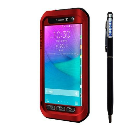 Love MEI Samsung Galaxy Note Edge Powerful Case;Multilayer Protection Shockproof Waterproof Dust/Dirt/Snow Proof Aluminum Metal Heavy Duty Protective Cover Case for Samsung Galaxy Note Edge N9150 (Red) (Galaxy Note Edge Metal Case compare prices)