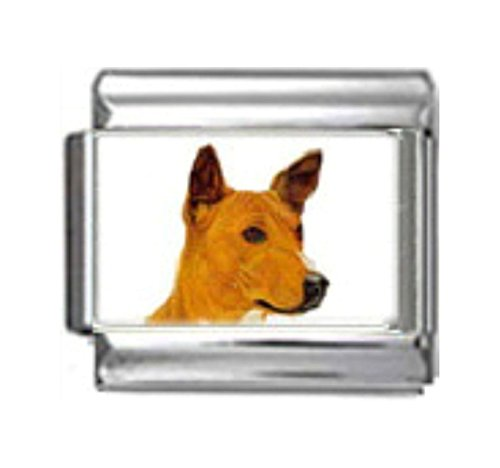 Stylysh Charms Basenji Dog Photo Italian 9mm Link DG044