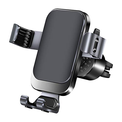 Universal Car Phone Mount Car Phone Holder for Car Air Vent Holder Cradle Aluminum Alloy Metal Gravity Auto-Clamping Car Mount Compatible with iPhone 12 Pro Max/12 Pro/12/Samsung S20 All Phone(Black)