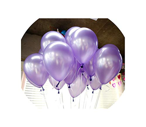 10Pcs 12Inch 2.2G Black Latex Balloons Helium Balloon Inflatable Wedding Decorations,A8 Lightpurple -