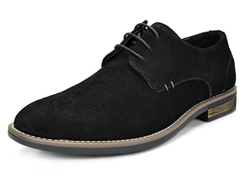 Bruno Marc Men's URBAN-08 Black Suede Leather Lace Up Oxfords Shoes – 11 M US