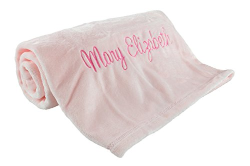 Large Personalized Baby Blanket, Pink, Measures 30