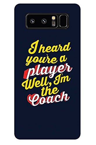 premium selection 2bd3f 5b15c Balaji Galaxy Note 8 Case, I am The Coach Slim Fit Hard: Amazon.in ...