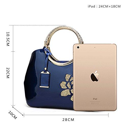 borsa Borse borsa sacchetto a Donna del a Borsa Tote Borsa di Mano rossa GAVERIL rosa Blu tracolla Borse Spalla wICOvpq