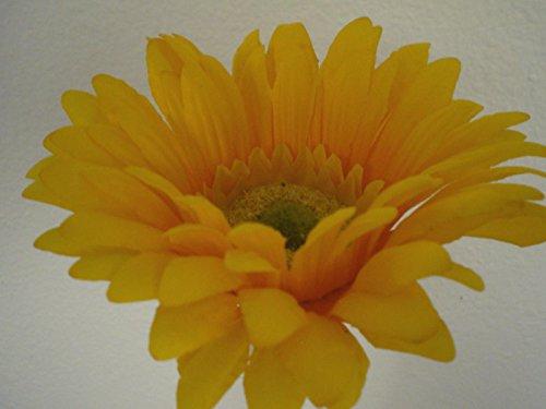 24' Silk Calla Lily - JumpingLight 4 Stems Yellow Daisy Artificial Silk Flowers 24'' Spray 1001YL Artificial Flowers Wedding Party Centerpieces Arrangements Bouquets Supplies