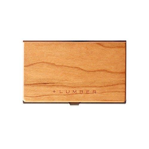 Cerise Visite Cartes Case Précieux Un Card Par Hacoa nbsp;inoxydable De Étui Pl025 Accent Bois Avec Pour Maple qa1xvw