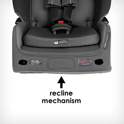 41hTluETrHL - Diono Radian 3QXT 4-in-1 Rear And Forward Facing Convertible Car Seat, Safe Plus Engineering, 4 Stage Infant Protection, 10 Years 1 Car Seat, Slim Design - Fits 3 Across, Gray Slate