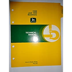 John Deere 1550 1650 Backhoe Technical Service Rep