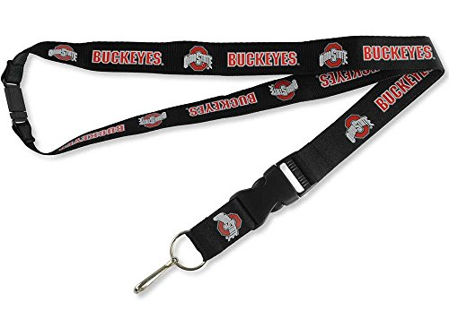 - aminco NCAA Ohio State Buckeyes Black Team Lanyard