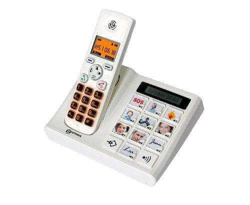 Geemarc PHOTODECT Fototasten schwerhörigen/schwersehenden Seniorentelefon Deutsche Version