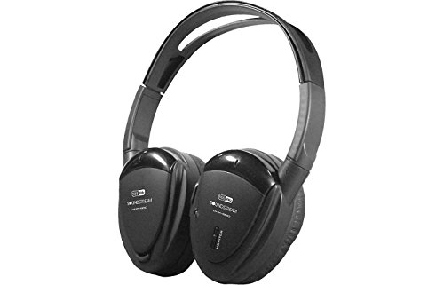 [Soundstream VHP-12 2-Channel IR Foldable Headphones with Storage Case] (Channel Storage)