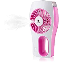 WHMING Handheld USB Mini Misting Fan with Personal Cooling Humidifier (Pink)